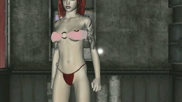 Corrupting Redhead 3-d Young One Slut Amanda Teasing Us Together With Her Tattoos And Dancing For You
