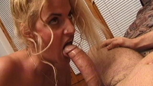 Libidinous Blonde Spouse Licks And Sucks An Enormous Fang At The Sofa