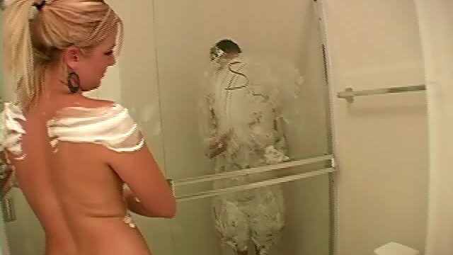Large Meloned Blonde Jessie Having A Shower Along With Her Lesbian Good Friend
