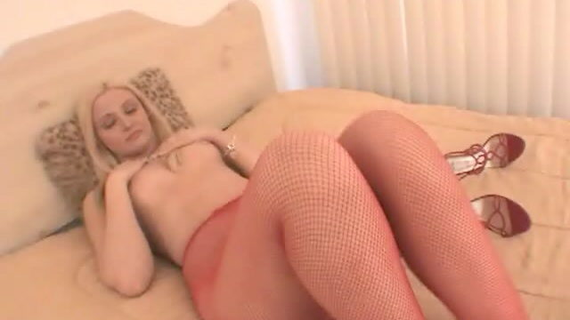 Breathless Blonde Hoe In Pink Pantyhose Ariel Summer Season Appearing Her Wonderful Frame