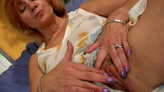 Slinky Granny In Mini Get Dressed Issue Touching Her Frame With Lust