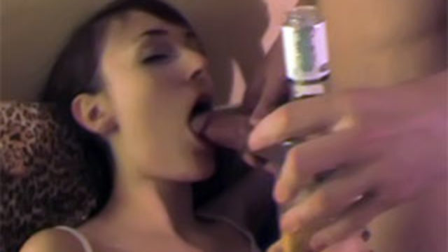 Boozed Stunner Screwing With 2 Boys