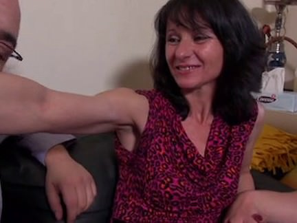 French Mature In Tights Ass Fucking 3some
