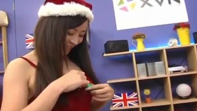 Reo Matsuzaka Santa Woman Wanks And Bj's Firm Hard-on Like A Professional